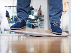 """Fluidstance's """"The Level"""" - Designed for people who use standing desks. The idea is to allow a bit more movement while your working so that your legs don't cramp, your knees don't lock, etc. My standing desk has never been so much fun!"""
