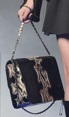 Philipp Plein, Milan Fashion Week Fall 2013 snake skin bag