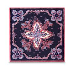Carré Monogram Coral FEMME ACCESSOIRES Écharpes et foulards   LOUIS VUITTON  Foulards, Foulards De Soie d373ac34114