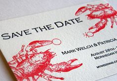 lobster save the date-newport clambake wedding