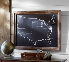 I want the frame with my own art. Chalkboard USA Wall Art | Pottery Barn