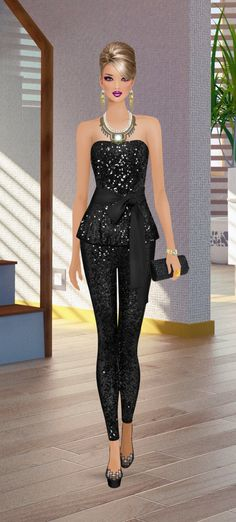 Fashion Game Covet Fashion Games, Diva Fashion, Fashion Dolls, Fashion Art, Fashion Dresses, Fashion Design, Black Dress Outfits, Models, Fashion Over 40