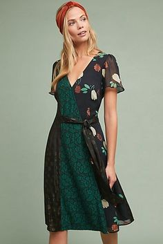 Moulinette Soeurs New Black Motif Anthropologie Ciao Bella Mid-length Short Casual Dress Size 6 (S) Bella Dresses, Dresses For Sale, Nice Dresses, Wrap Dresses, Boho Outfits, Fashion Outfits, Family Photo Outfits, Costume, Flattering Dresses