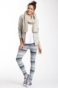 Like the chucky scarf but with solid leggings. Ombre Legging by Threads For Thought on @HauteLook