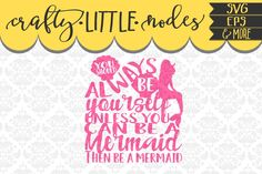 Always Be A Mermaid Shells Mermaids Ocean Summer Shell Bra SVG DXF Ai Eps PNG Vector Instant Download Commercial Cut File Cricut Silhouette by Justina Tracy available for $1.50 at DesignBundles.net