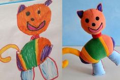 Get a Stuffed Animal That Looks Just Like Your Kids Drawing | Mental Floss