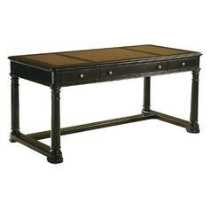 Hekman Furniture Table Desk in Louis Phillipe Finish - 7-9148