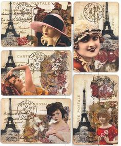 ATC 's Meet Me In Paris Series by mollycakes, via Flickr