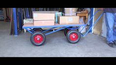 500kg Turntable Platform Truck  - #Capacity 500 kg - The #ideal #industrial #workhorse - #Steel #frame with #timber #decked #platform - #Platform size 1600 x 710 x 515mm #high - 400 x 100mm #cushion or #pneumatic #tyred #wheels with #roller #bearings - #Precision #turntable #steering - #Blue #powder #coated #finish as #standard - Now #available in any #colour   - Product link: http://www.hsil.co/500kg-turntable-platform-truck