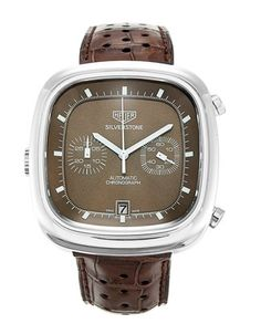 "Tag Heuer Silverstone is a retro re-release from TAG that is badged ""Heuer"" — and at a clearer proportioned 42mm (still not large by today's standards). Again, this model features a left-handed winder, and I do like the chocolate brown colour (very '70s)!"