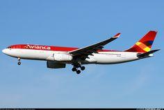 Airbus A330-243, Avianca, N975AV, cn 1224, 242 passengers, first flight 27.4.2011, Avianca delivered 19.5.2011. 2.6.2016 flight London - Bogota. London, United Kingdom, 16.2.2016.