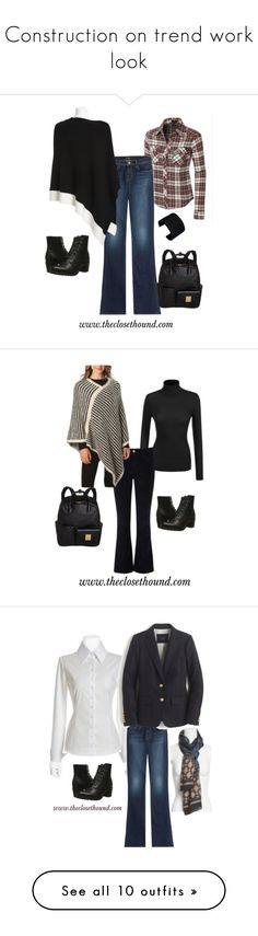 """""""Construction on trend work look"""" by theclosethound on Polyvore featuring Frye, J Brand, A.V. Max, Frame Denim, J.Crew, Joe's Jeans, Madewell, Tory Burch, Panacea and DL1961 Premium Denim"""