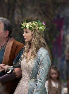 Tamsin Egerton as Guinevere inCamelot (TV Series, 2011).Costume Designer Joan Bergin