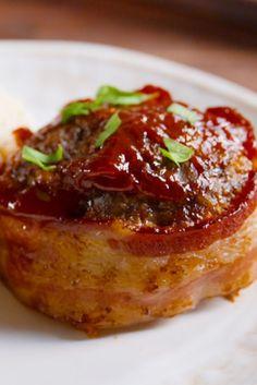 Bacon Mini Meatloaves  - Delish.com