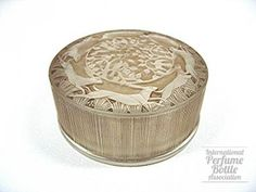 1924 R.Lalique 'Lievres' Powder Box