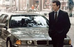 Pierce Brosnan leaves his BMW 750iL in Tomorrow Never Dies