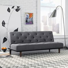 Sauder Premier Crash Sofa Convertible Futon, Dark Gray: Furniture : Walmart.com: might be good for guest/ play room : want to check it out....