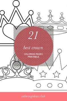 Are you looking for an article about 21 Best Crown Coloring Pages Printable. Get this Luxury and SHARE this article right now! Princess Coloring Pages, Coloring Pages For Girls, Coloring Pages To Print, Free Printable Coloring Pages, Free Coloring Pages, Coloring Sheets, Coloring Books, Crown Printable, Page Az