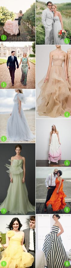 Top 10: Colorful wedding dresses