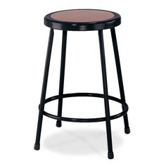"I just bought: National Public Seating 6224 Black 24"" Hardboard Round Lab Stool"