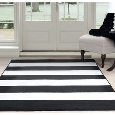 Purchase Lavish Home Breton Stripe Area Rug - Black & White - from Destination Home on OpenSky. Share and compare all Home. Furniture, Machine Made Rugs, Contemporary, Striped Rug, Black Area Rugs, Home Decor, White Rug, Windsor Homes, Lavish Home