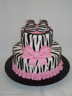 Pink Zebra Baby Shower Cake. Uh oh! This is sooo me and baby Payton. :)