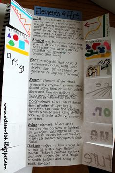 Art Room 104: Studio Art: The Elements of Art (And Prang Markers!) nice idea for beginning class with one element per class?