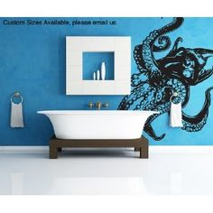 This is a GREAT example of WALL Vinyl Stick Design - Cephalopods