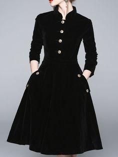 Velvet Dress Burgundy Long Sleeves Split Front One Shoulder Split Dress Stylish Dresses, Casual Dresses, Short Dresses, Fashion Dresses, Vintage Style Dresses, Winter Dresses, Simple Dresses, Pretty Dresses, Beautiful Dresses