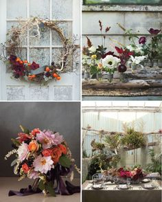 We adore these sophisticated floral arrangements for fall