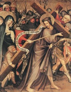 Christ Carrying the Cross, by Thomas De Coloswar, Hungary, 1427.