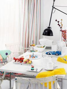 Loft Place Settings by Rosenthal Decor, Wood Platter, Dinnerware, Platter Set, Rectangular Platter, Small Bowls, Contemporary Dinnerware, Sushi Set, White Bowls