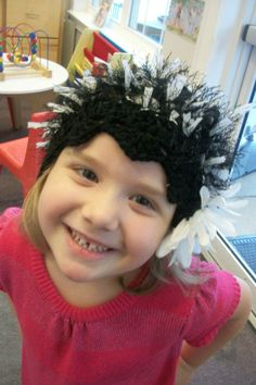 Smiling for the camara now, click,click.  AWE!Some #Crochet ImaGINAtive OriGINAtion by Gina Renay #hat #customer