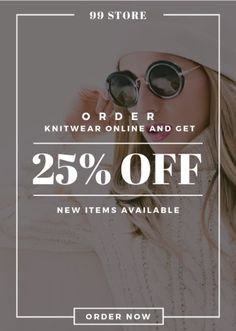 Young Girl in winter clothes and sunglasses — Create a Design Sunglasses Online, Round Sunglasses, Winter Clothes, Winter Outfits, Edit Online, Marketing Materials, Flyer Design, Ecommerce, Knitwear