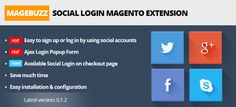 http://cmsmart.net/tags/magento-community MB – Social Login Magento Extension allows customers to easily sign up or log into your Magento store via their social accounts.