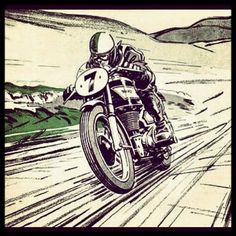 New Motorcycle Drawing Illustration Cafe Racers Ideas Bike Tattoos, Motorcycle Tattoos, Motorcycle Posters, Bobber Motorcycle, Motos Vintage, Vintage Motorcycles, Pub Vintage, Vintage Racing, Cafe Racer Shop