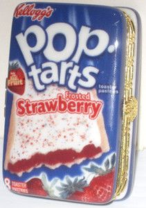 KELLOGG'S POP-TARTS PASTRIES STRAWBERRY PASTRY PORCELAIN HINGED TRINKET BOX