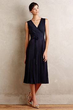 Pleated Merle Dress #anthropologie