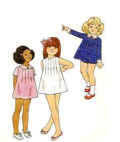 VINTAGE Little Girls' Dress Sewing Pattern  by KeepsakesStudio