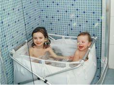 bibabath, vasca da bagno pieghevole, perfetta nel box doccia o per le vacanze