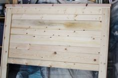 Rustic Headboard {aged wood}