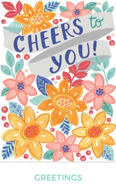 cheers floral greeting card ©elizabeth silver