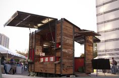 Re-purposed Wood on Cargo Trailer