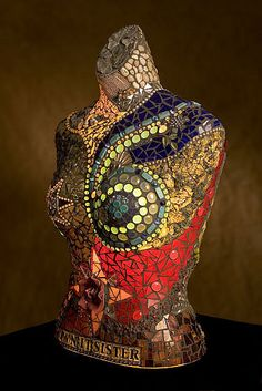 Osaic torso. (The artist might be Jeannie Houston Antes)