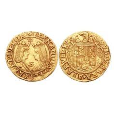 LAS MONEDAS DE LOS REYES DE CASTILLA   Las nuevas monedas fueron acuñadas con dos propositos: conmemorar el inicio de su reinado y como propaganda de la estampa de los soberanos