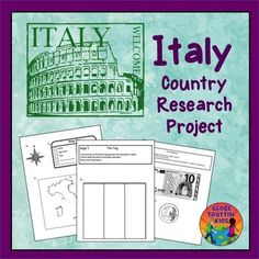 Learn about Italy with these printables for kids