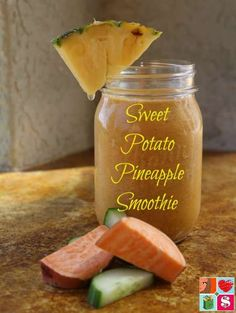 Sweet Potato Pineapple Smoothie from Having Fun Saving.    Reduce inflammation naturally, with this Sweet Potato Pineapple Smoothie. Sweet potatoes, pineapple and turmeric are great for inflammation.