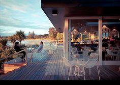 Takapuna Beach cafe, Takapuna, Auckland.