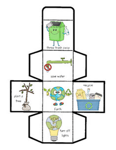 Free! Earth Day Cube Game...review ways to help the environment and planet Earth!