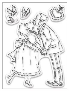 Penny Black - Kisses For My Sweet Clear Stamp Set - 30-395 (Pre-order Only)